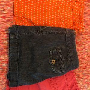 3 pairs of Loft shorts size 2